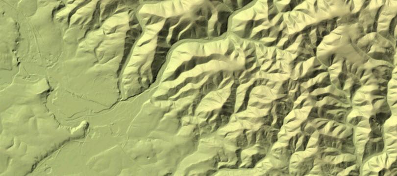 Digitales Geländemodell Gitterweite 10 m