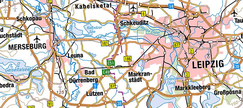 WMS Digitale Topographische Karte 1:500 000