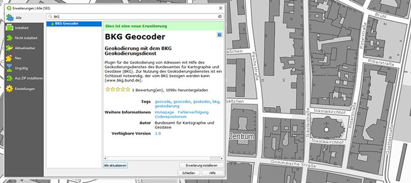 QGIS BKG Geocoder