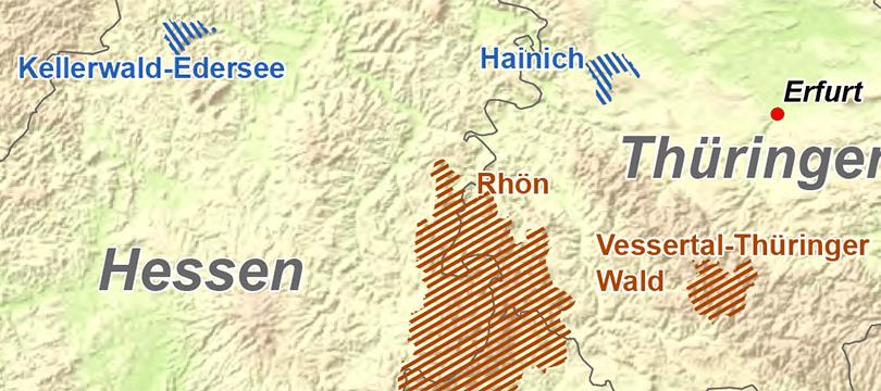 Themenkarte: Nationalparks und Biosphärenreservate in Deutschland