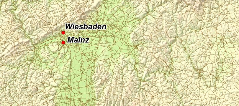 Themenkarte: Das Straßennetz in Deutschland
