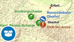 Themenkarte: Wintersportanlagen in Deutschland