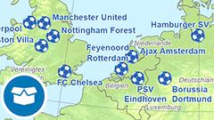 Themenkarte: UEFA Champions League Sieger (inkl. Cup der Landesmeister)