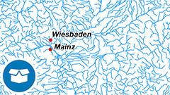 Themenkarte: Das Gewässernetz in Deutschland