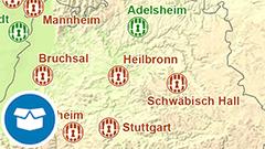 Themenkarte: Justizvollzugsanstalten und Jugendstrafanstalten in Deutschland