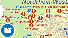 Themenkarte: Bismarcktürme und -säulen in Deutschland