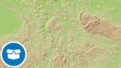 Digitales Geländemodell Gitterweite 200 m