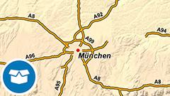 Themenkarte: Autobahnen in Deutschland