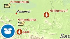 Themenkarte: Orte, die an Weihnachten erinnern