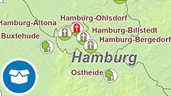 Themenkarte: Die größten Friedhöfe und Waldbestattungsflächen in Deutschland