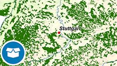 Themenkarte: Waldgebiete in Deutschland