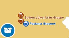 Themenkarte: Brauereien und Anteile am Gesamtbierabsatz in Deutschland