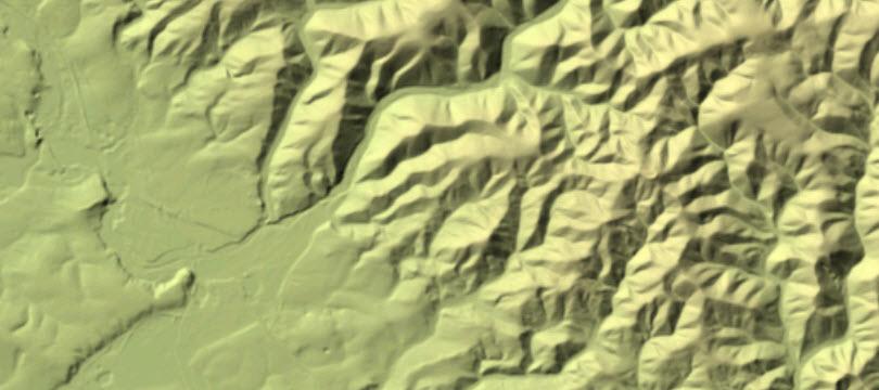 Digitales Geländemodell Gitterweite 25 m