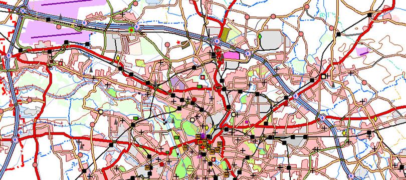 Digitales Landschaftsmodell 1:250 000 (Ebenen)