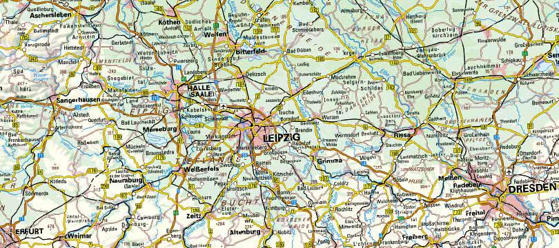 Digitale Topographische Karte 1:1 000 000