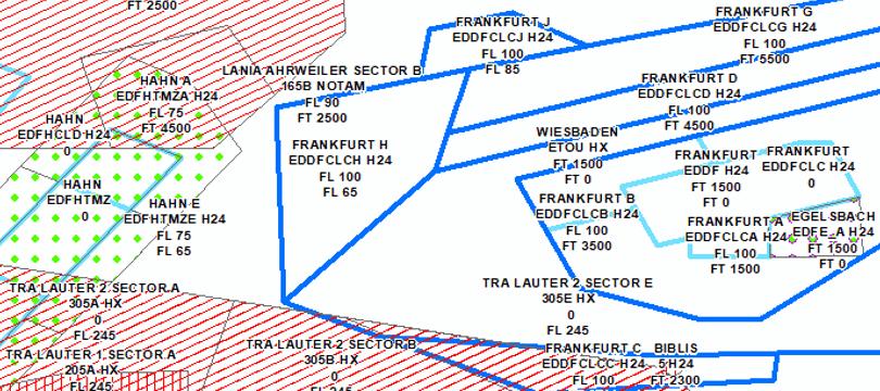 Lufträume der DFS