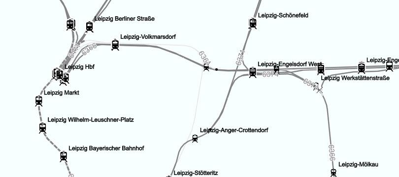Streckennetz DB Netz AG