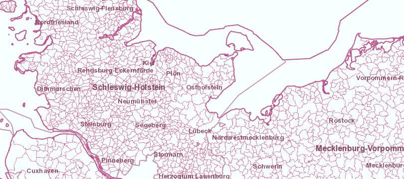Verwaltungsgebiete 1:250 000 mit Einwohnerzahlen (Ebenen), Stand 31.12.