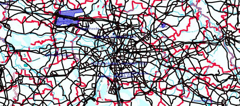 INSPIRE-WMS Digital Landscape Model 1:250 000