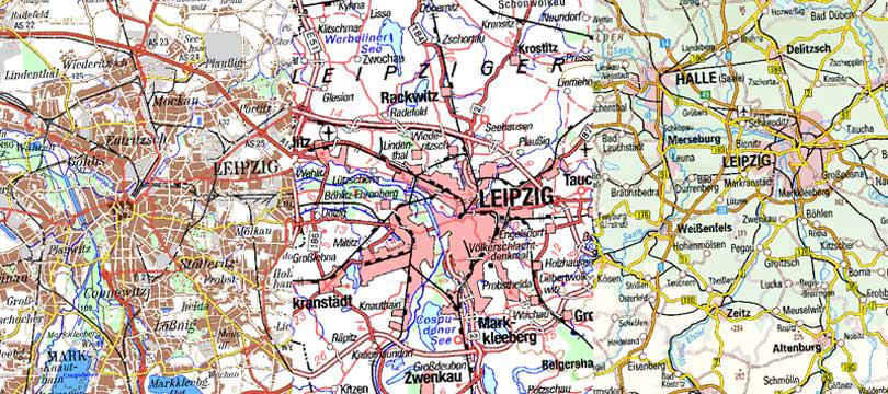 WMS Digitale Topographische Karten 1:200 000, 1:500 000, 1:1 000 000