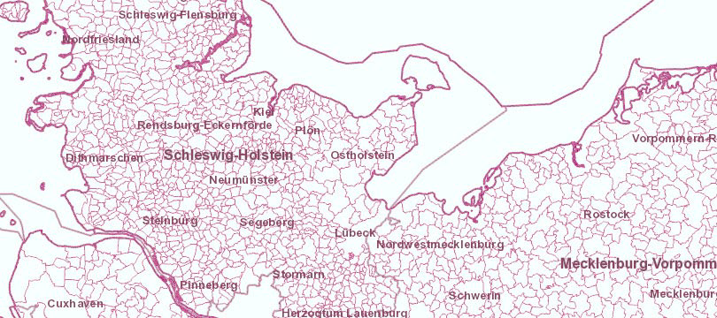 WMS Verwaltungsgebiete 1:250 000, Stand 01.01.