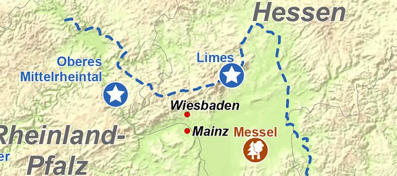 Themenkarte: UNESCO Welterbestätten in Deutschland