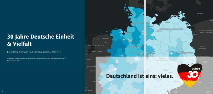 30 Jahre Deutsche Einheit & Vielfalt - Eine demografische und kartographische Zeitreise