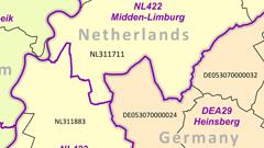 EuroBoundaryMap 1:100 000