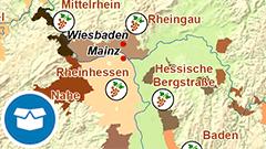 Themenkarte: Hopfen- und Weinanbaugebiete in Deutschland