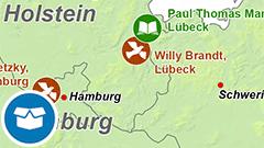 Themenkarte: Die deutschen Friedens- und Literatur-Nobelpreisträger