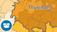 Themenkarte: Der prozentuale Anteil an Kindern unter 3 Jahren in Tageseinrichtungen in Deutschland