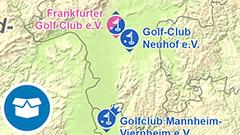 Themenkarte: Golfclubs der 1. Bundesliga in Deutschland