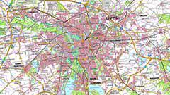 Digitale Topographische Karte 1:100 000