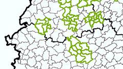 Kommunale Teilgebiete 1:25 000