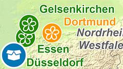 Themenkarte: Städte mit Bundesgartenschauen seit 1951