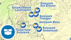 Themenkarte: Solarparks in Deutschland