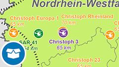 Themenkarte: Luftrettungsstandorte Deutschlands und seiner Nachbarn