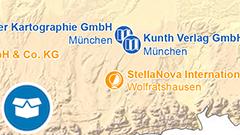 Themenkarte: Aussteller kartographischer Produkte auf der Frankfurter Buchmesse 2018